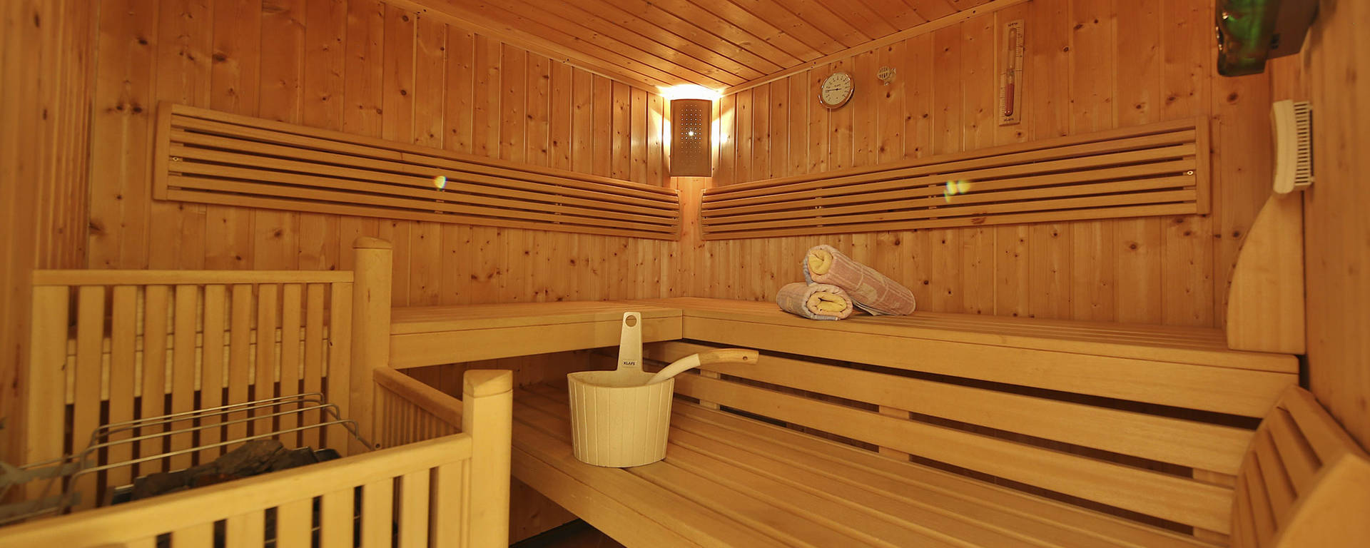 Sauna im Appartements Pamela in Serfaus